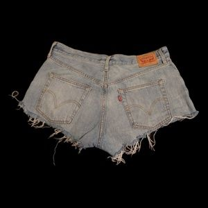 Levi's Shorts - Lightwash Distressed Levi 501 Cutoffs
